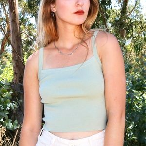 Aritzia Mint Blue Tank Top